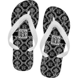 Monogrammed Damask Flip Flops - XSmall (Personalized)