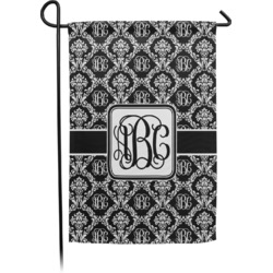 Monogrammed Damask Garden Flag - Single or Double Sided (Personalized)