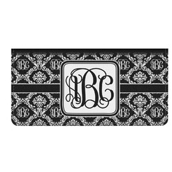 Monogrammed Damask Genuine Leather Checkbook Cover (Personalized)