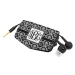 Monogrammed Damask Genuine Leather Cord Wrap (Personalized)
