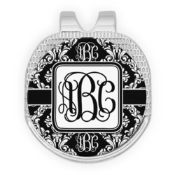 Monogrammed Damask Golf Ball Marker - Hat Clip