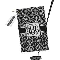 Monogrammed Damask Golf Towel Gift Set (Personalized)