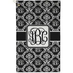 Monogrammed Damask Golf Towel - Full Print - Small