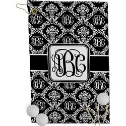 Monogrammed Damask Golf Towel - Full Print (Personalized)