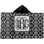 Monogrammed Damask Kids Hooded Towel (Personalized)