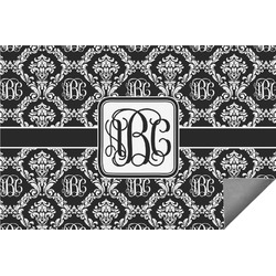 Monogrammed Damask Indoor / Outdoor Rug (Personalized)