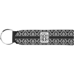 Monogrammed Damask Keychain Fob (Personalized)