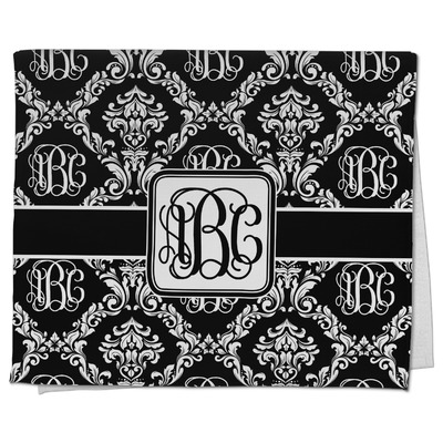 Monogrammed Damask Kitchen Towel - Full Print (Personalized)