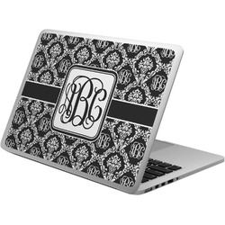 Monogrammed Damask Laptop Skin - Custom Sized (Personalized)