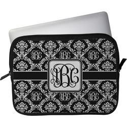 "Monogrammed Damask Laptop Sleeve / Case - 13"" (Personalized)"