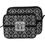 Monogrammed Damask Laptop Sleeve / Case (Personalized)