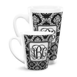 Monogrammed Damask Latte Mug