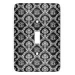 Monogrammed Damask Light Switch Covers - Multiple Toggle Options Available (Personalized)