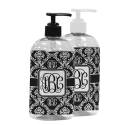 Monogrammed Damask Plastic Soap / Lotion Dispenser (Personalized)