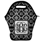 Monogrammed Damask Lunch Bag