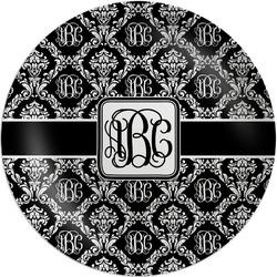 Monogrammed Damask Melamine Plate (Personalized)