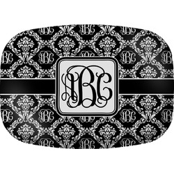 Monogrammed Damask Melamine Platter (Personalized)