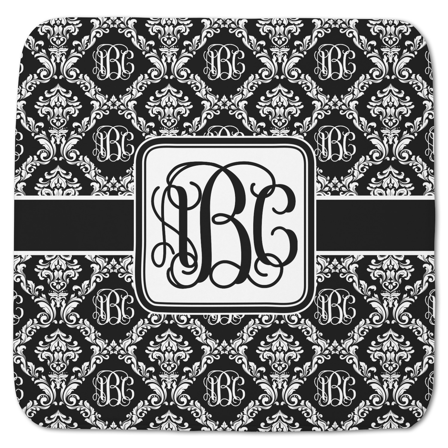 Model Monogrammed  Personalized  Embroidered Bath Mat