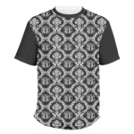 Monogrammed Damask Men's Crew T-Shirt (Personalized)