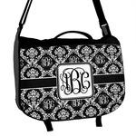Monogrammed Damask Messenger Bag (Personalized)