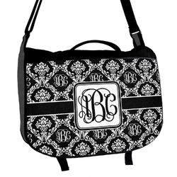Monogrammed Damask Messenger Bag (Personalized)