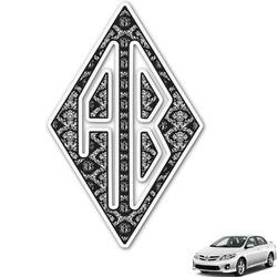 Monogrammed Damask Monogram Car Decal (Personalized)