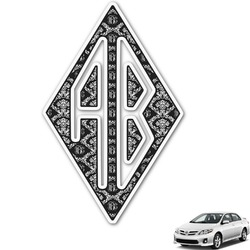 Monogrammed Damask Monogram Car Decal (Personalized)