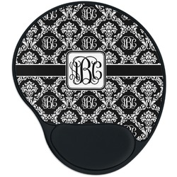 Monogrammed Damask Mouse Pad with Wrist Support