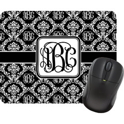 Monogrammed Damask Mouse Pad (Personalized)