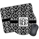 Monogrammed Damask Mouse Pads (Personalized)