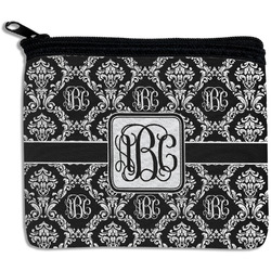 Monogrammed Damask Rectangular Coin Purse (Personalized)