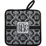 Monogrammed Damask Pot Holder (Personalized)
