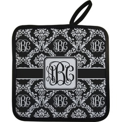 Monogrammed Damask Pot Holder