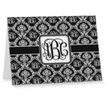 Monogrammed Damask Note cards (Personalized)