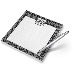Monogrammed Damask Notepad (Personalized)