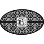 Monogrammed Damask Oval Trailer Hitch Cover (Personalized)