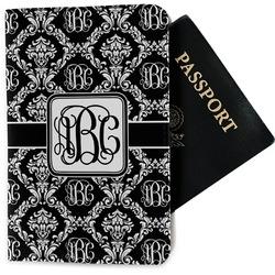 Monogrammed Damask Passport Holder - Fabric (Personalized)