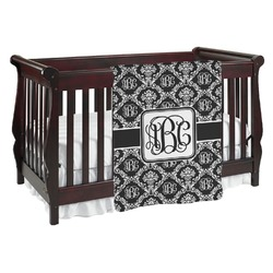 Monogrammed Damask Baby Blanket (Personalized)