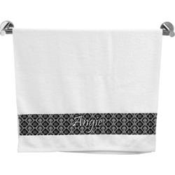 Monogrammed Damask Bath Towel (Personalized)