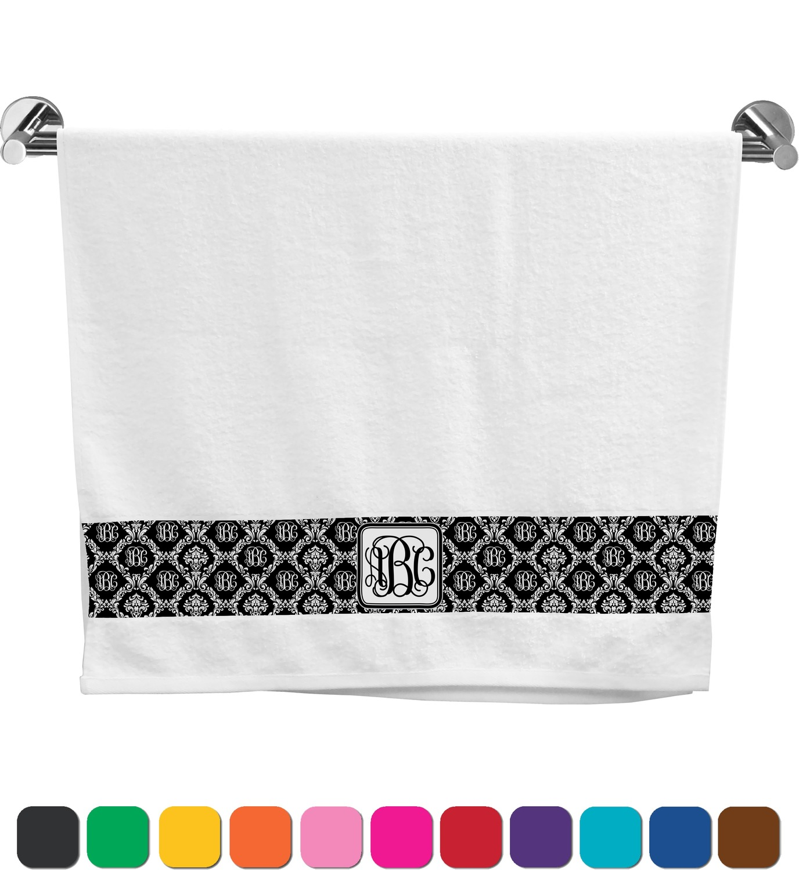 Monogrammed Damask Bath Towel (Personalized) - YouCustomizeIt