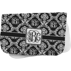 Monogrammed Damask Burp Cloth (Personalized)