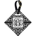Monogrammed Damask Diamond Luggage Tag (Personalized)