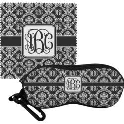 Monogrammed Damask Eyeglass Case & Cloth (Personalized)