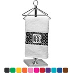 Monogrammed Damask Finger Tip Towel (Personalized)
