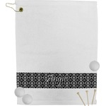 Monogrammed Damask Golf Towel (Personalized)