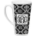 Monogrammed Damask Latte Mug (Personalized)