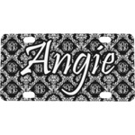 Monogrammed Damask Mini License Plate (Personalized)