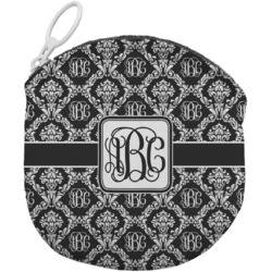 Monogrammed Damask Round Coin Purse (Personalized)