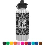 Monogrammed Damask Water Bottle (Personalized)