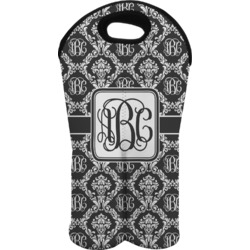 Monogrammed Damask Wine Tote Bag (2 Bottles) (Personalized)